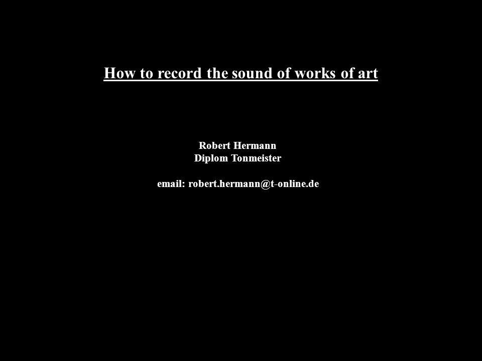 1 ) does separate sound documentation make sense ?