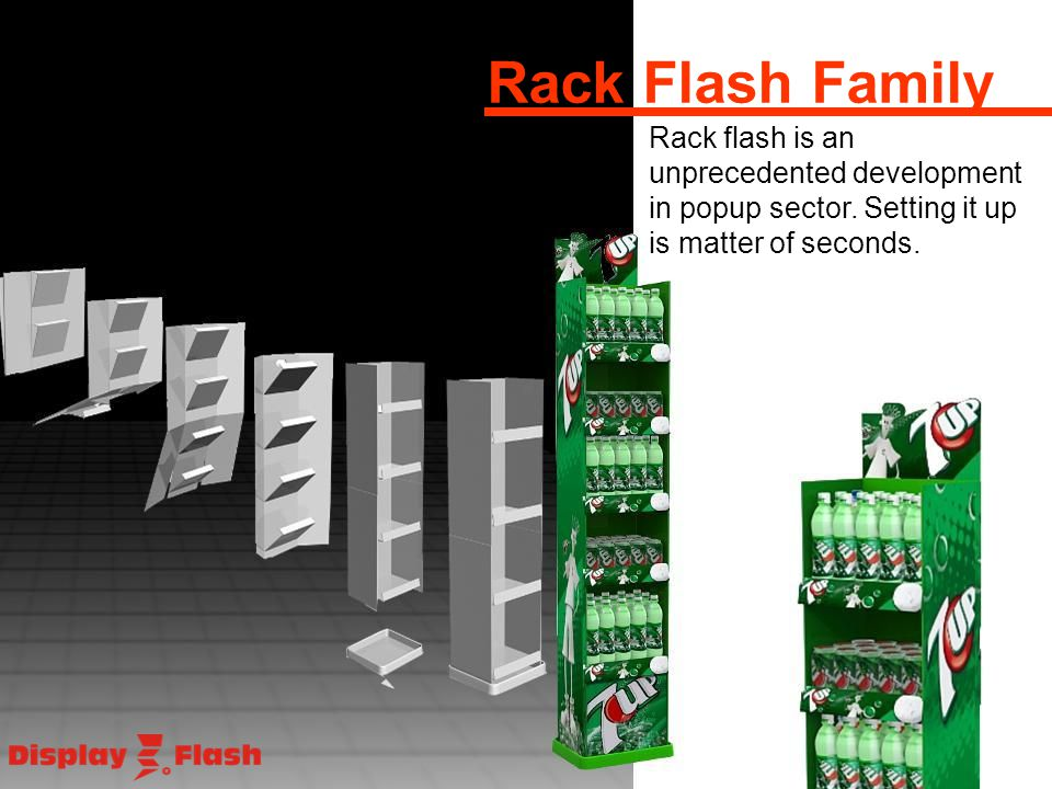 Rack flash is an unprecedented development in popup sector. Setting it up is matter of seconds.