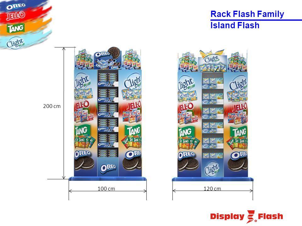 100 cm120 cm 200 cm Island Flash Rack Flash Family