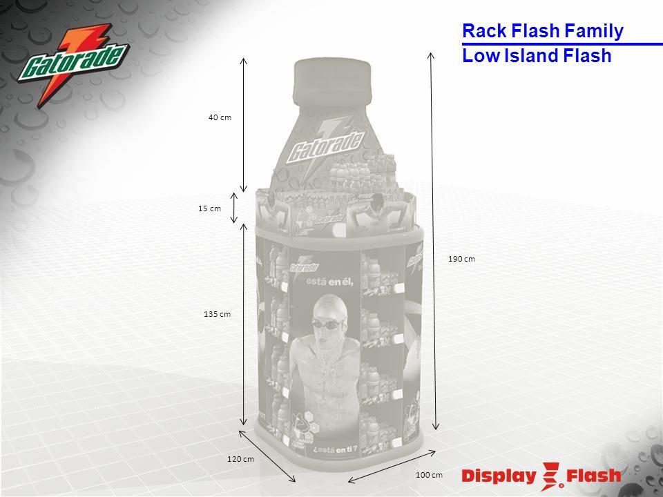 120 cm 135 cm 100 cm 15 cm 190 cm 40 cm Low Island Flash Rack Flash Family