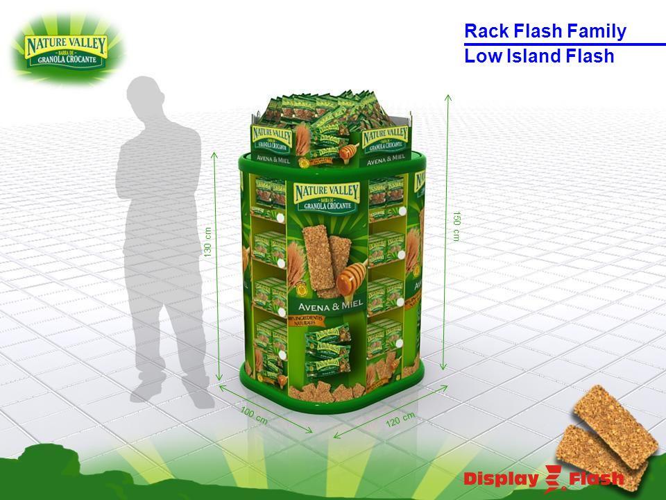 130 cm 150 cm 120 cm 100 cm Low Island Flash Rack Flash Family