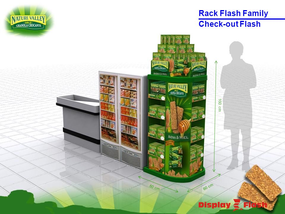 160 cm 60 cm Check-out Flash Rack Flash Family