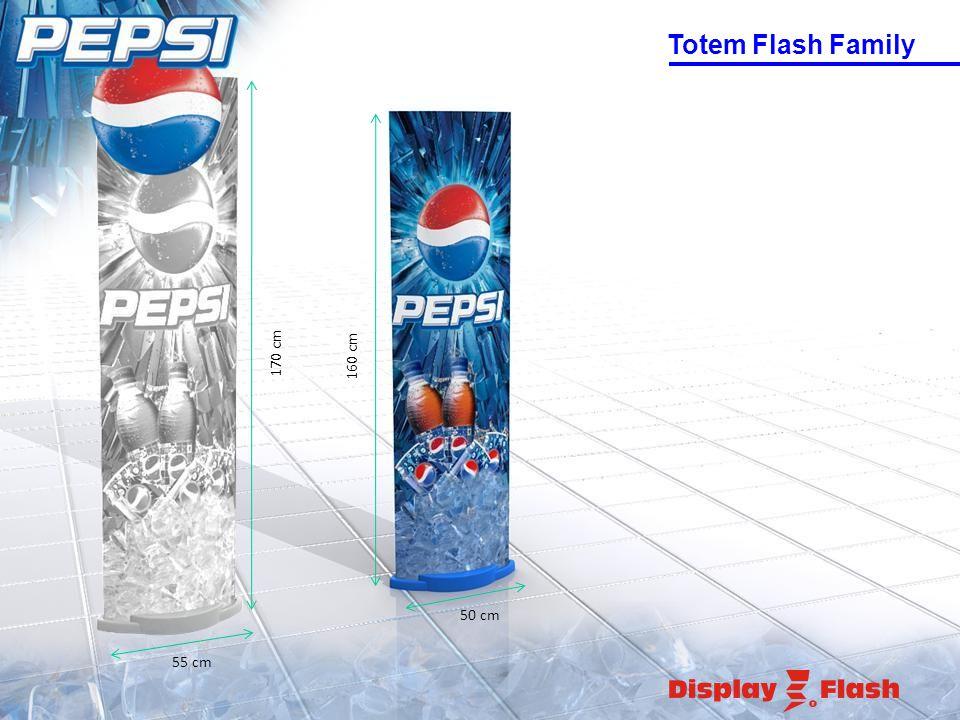 Totem Flash Family 50 cm 160 cm 170 cm 55 cm