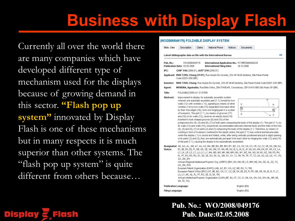 Currently all over the world there are many companies which have developed different type of mechanism used for the displays because of growing demand in this sector.