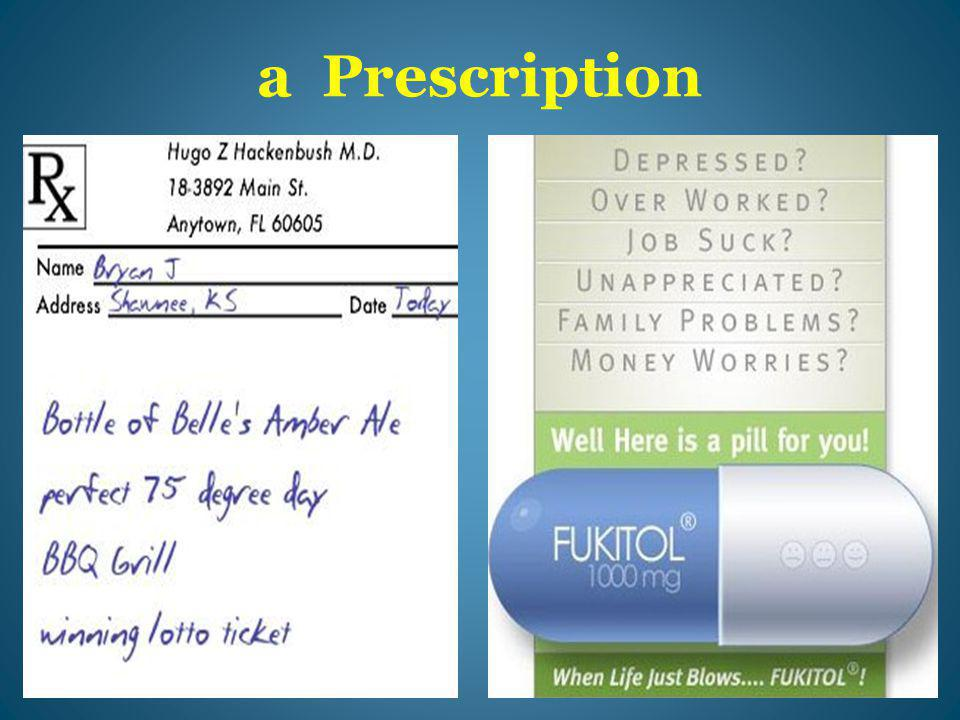 a Prescription