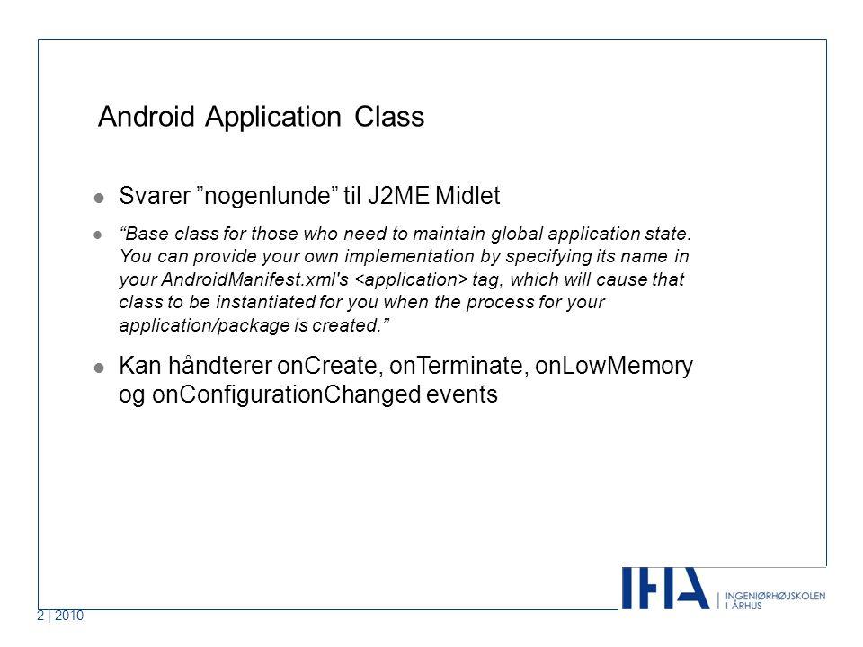 1 | 2010 Activity og GUI Android Brugergrænseflade