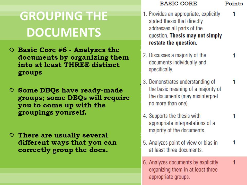Do we need to cite the documents in a DBQ?