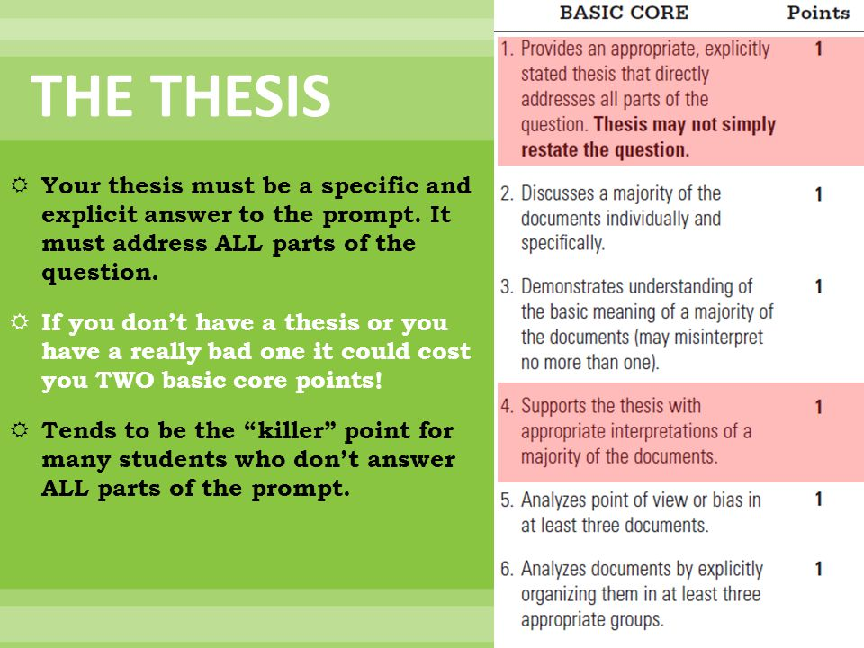 what does restating the thesis mean Second, variation is the key to restating your thesis in other words, the best way to restate your thesis in the conclusion is through creativity you do not simply want to.