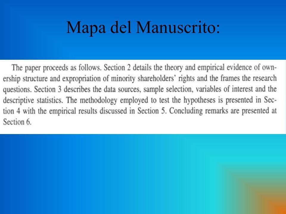 Mapa del Manuscrito: