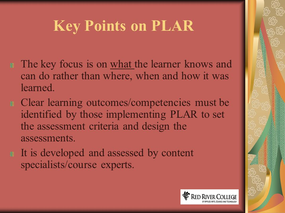 6 How do we ensure good practices in PLAR.