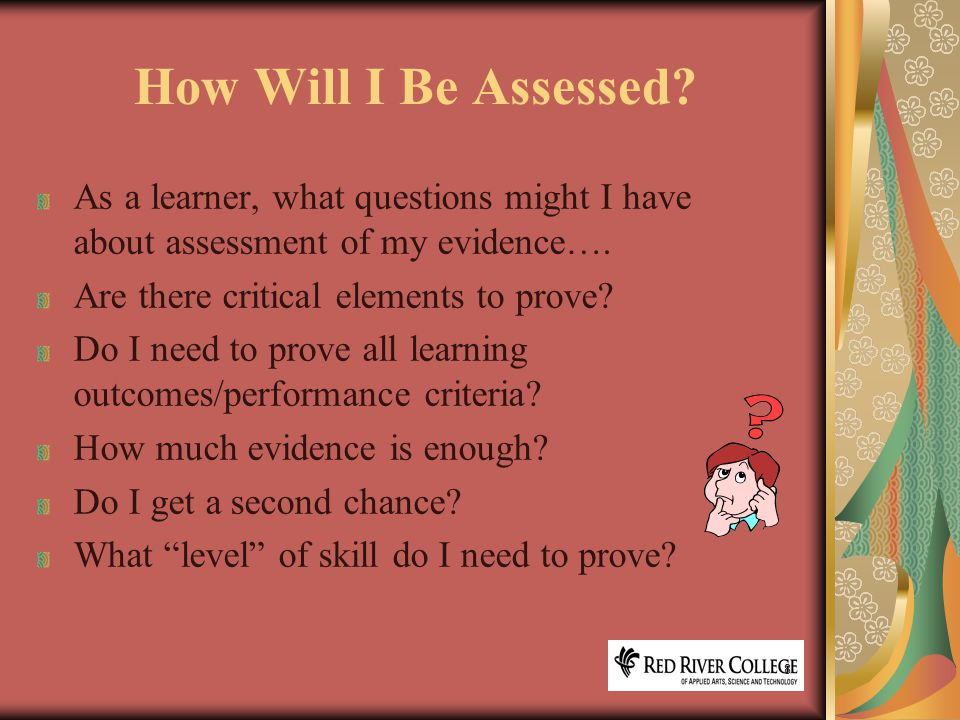 8 How Will I Be Assessed.