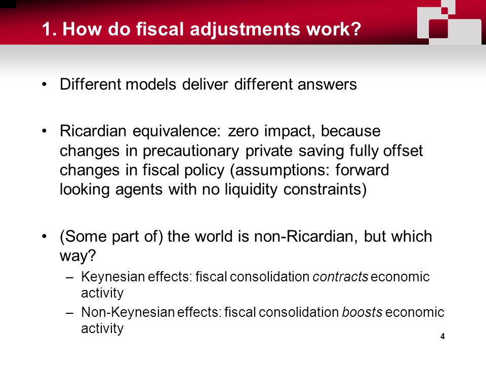 4 1. How do fiscal adjustments work.