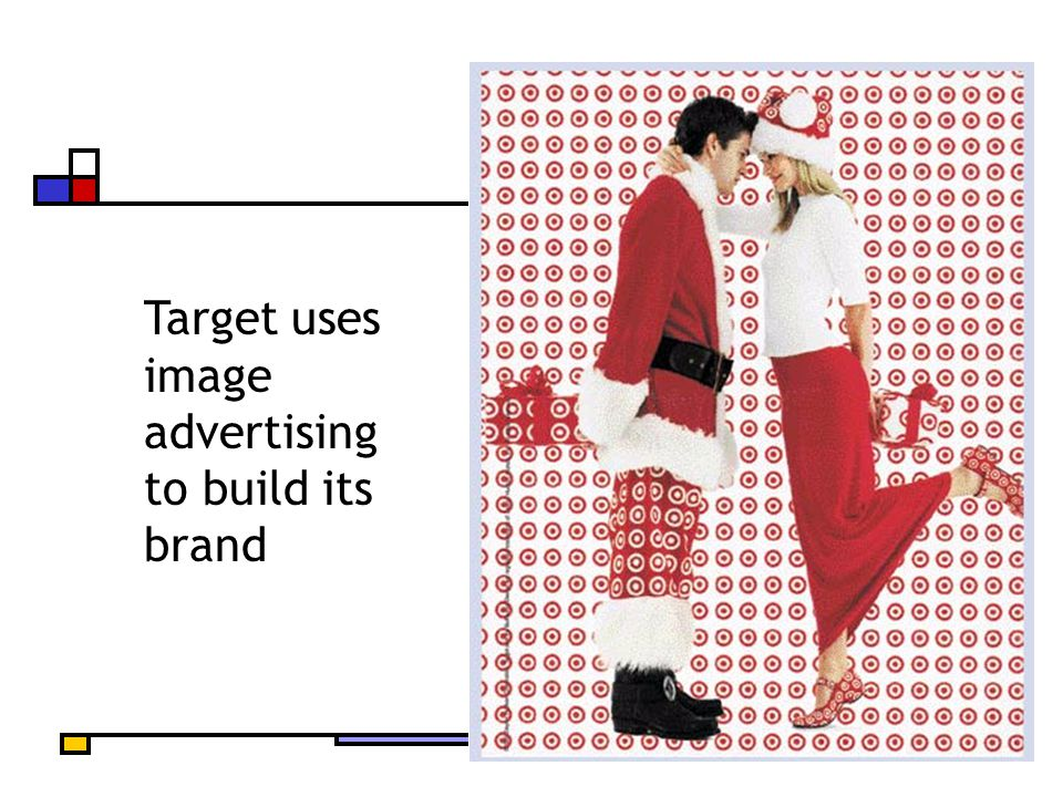 Target uses image advertising to build its brand