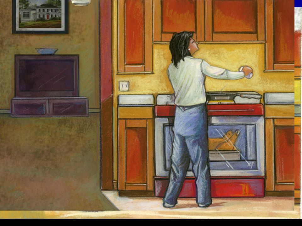 12/14/2014 Cooking Fires 26 Prevent Scalds and Burns Place objects where they cannot be pulled over or knocked over: Turn pot handles away from the stove's edge.
