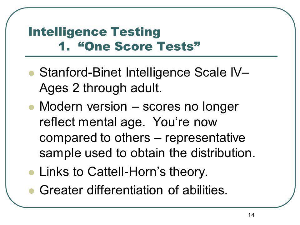 Intelligence Testing 1.