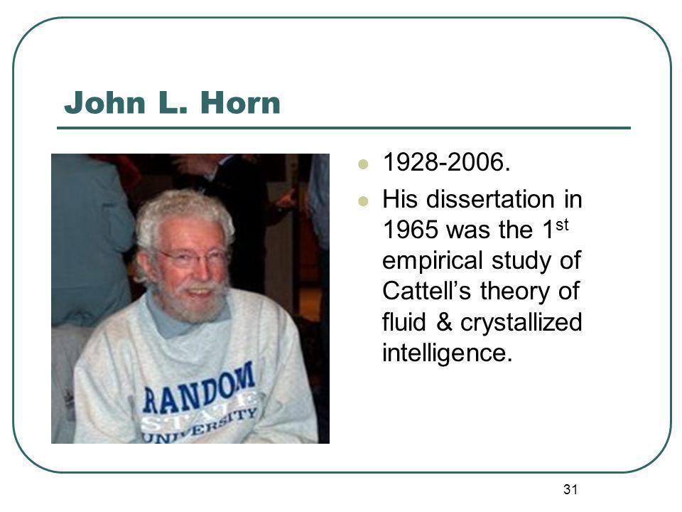 John L. Horn 1928-2006.