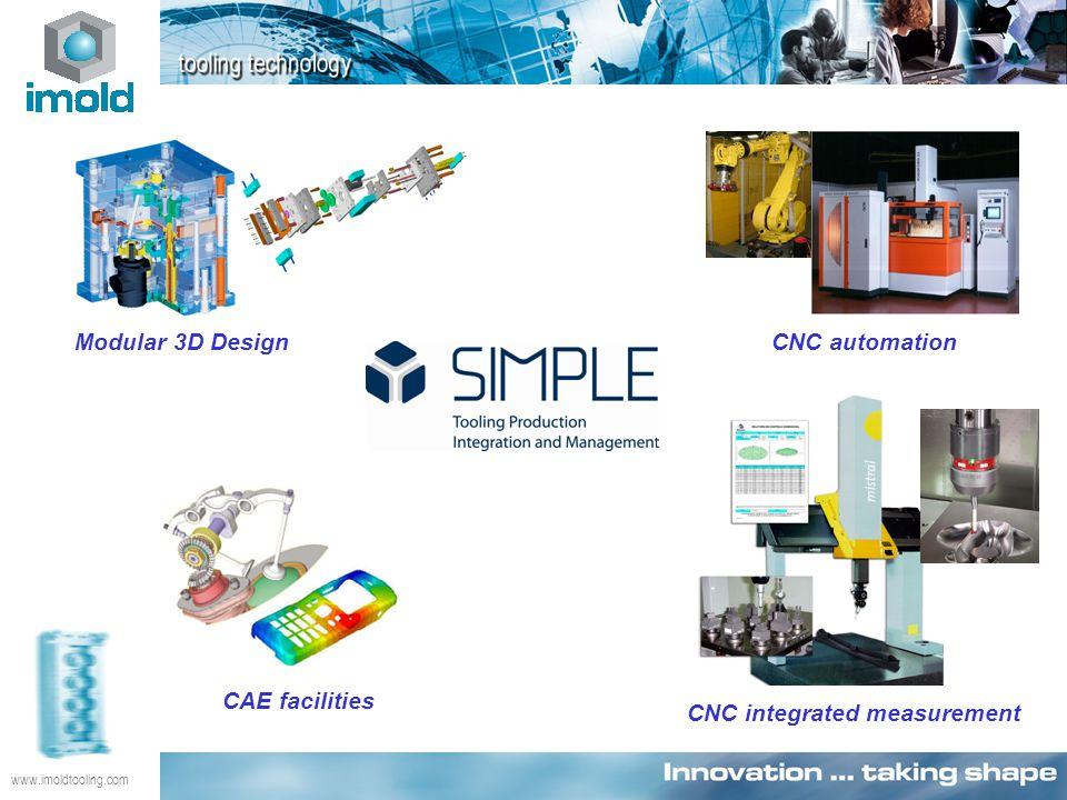 www.imoldtooling.com CNC integrated measurement CAE facilities Modular 3D DesignCNC automation