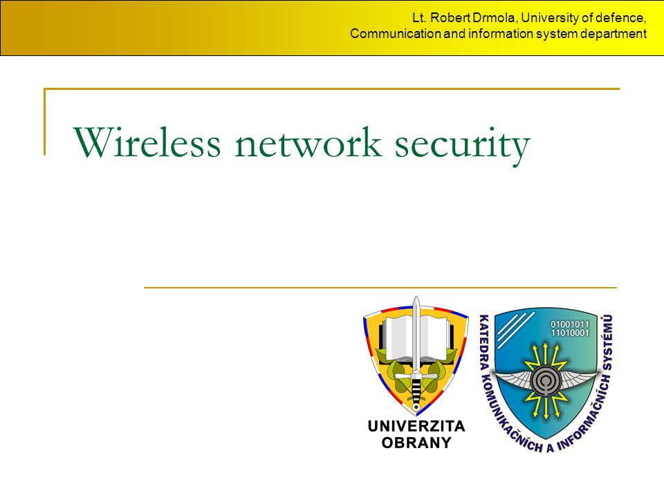 Wireless network security Lt.