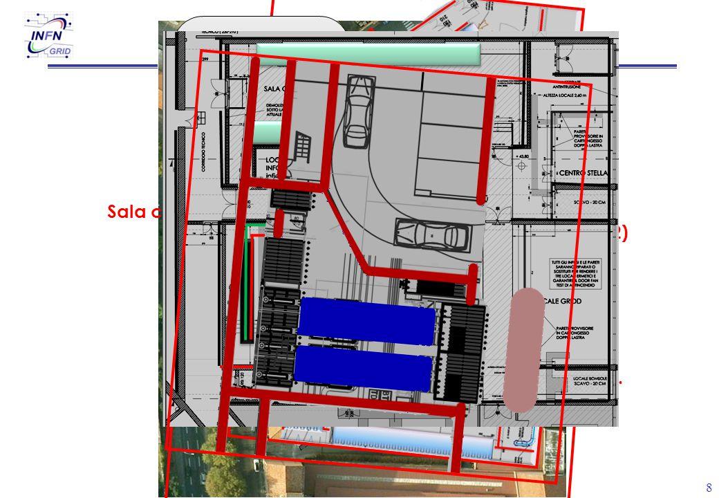 8 Sala chiller (piano -1) Sala calcolo (piano -2) Spazi consegna elettr. Spazi emergenza elettr.