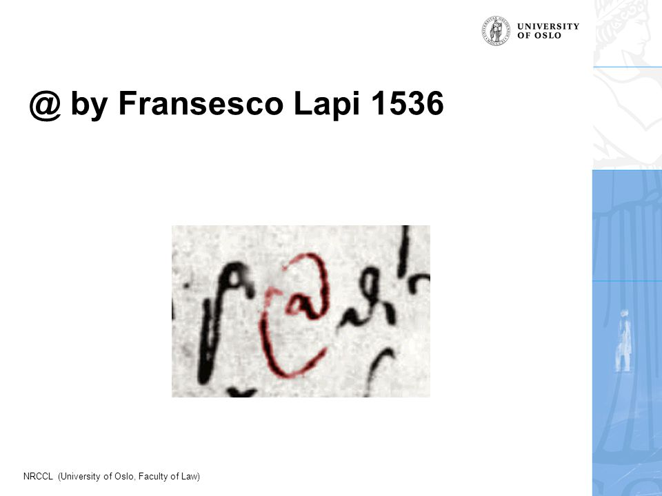 NRCCL (University of Oslo, Faculty of Law) @ by Fransesco Lapi 1536