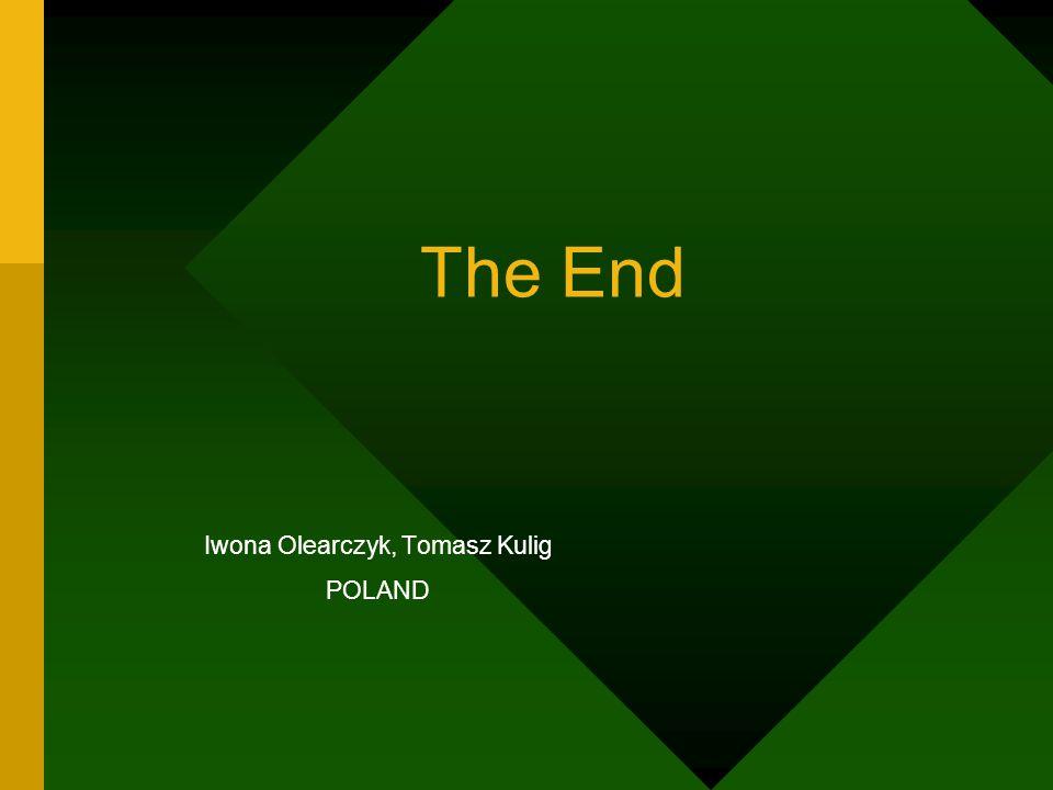 The End Iwona Olearczyk, Tomasz Kulig POLAND