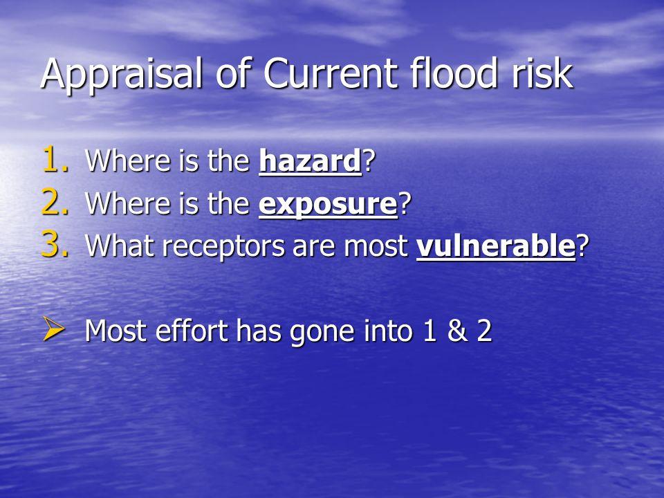 Appraisal of Future flood risk 1.Change in hazard 2.