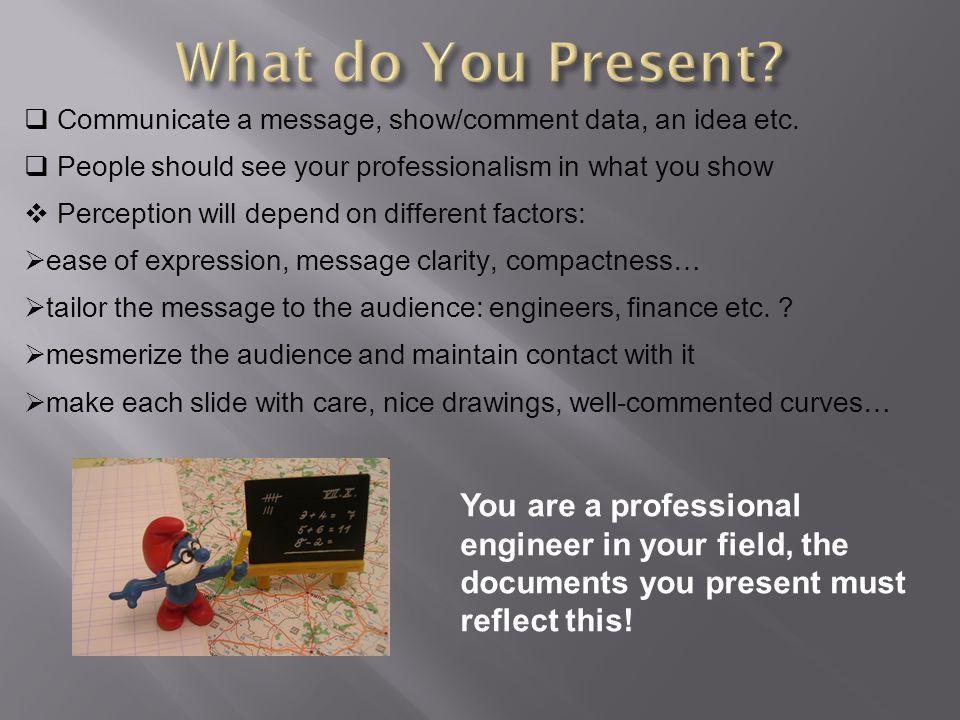  What do You Present. Do I Really Speak English.