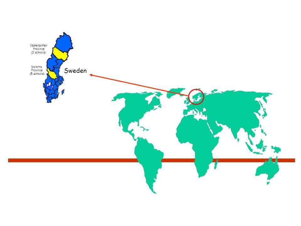 Sweden Västerbotten Province (2 schools) Dalarna Province (5 schools)