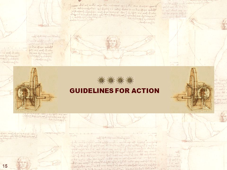 GUIDELINES FOR ACTION 15