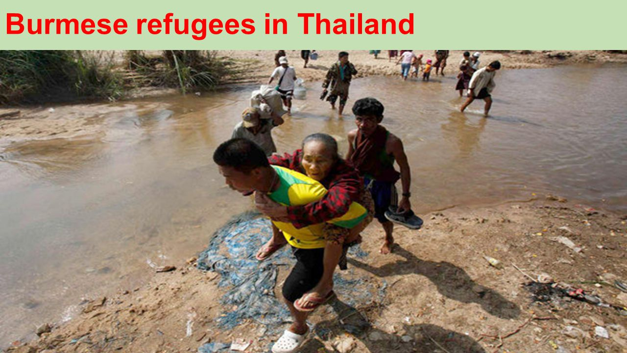 Burmese refugees in Thailand