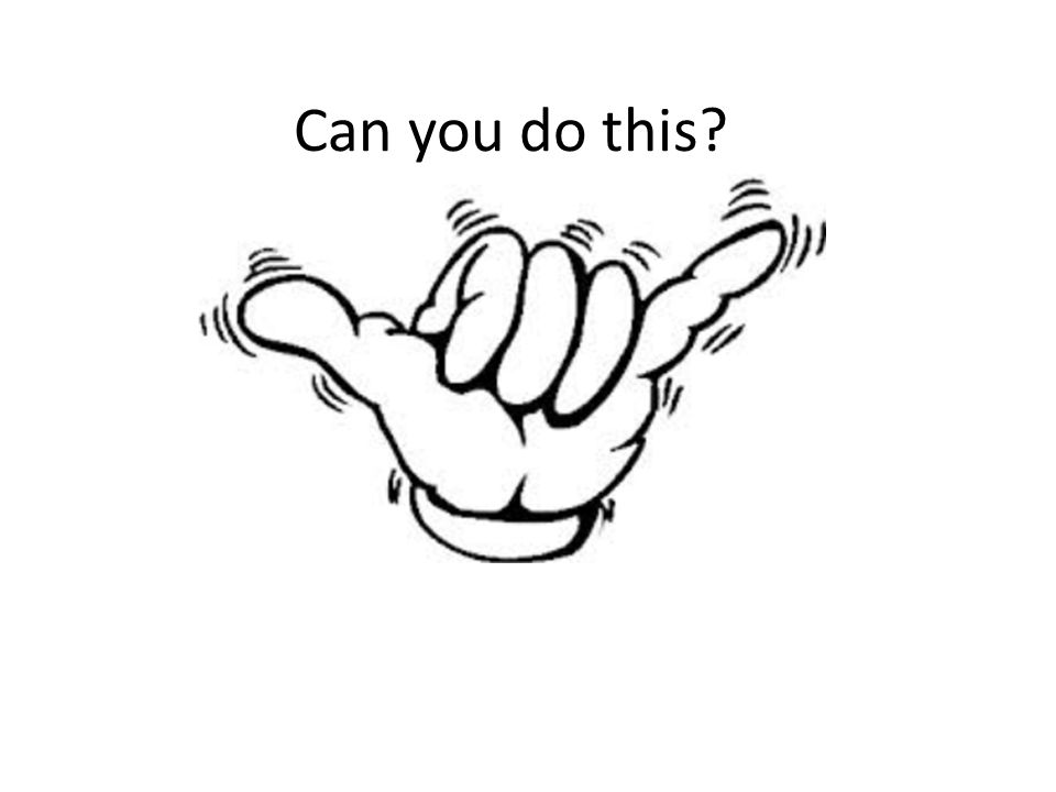 Can you do this?
