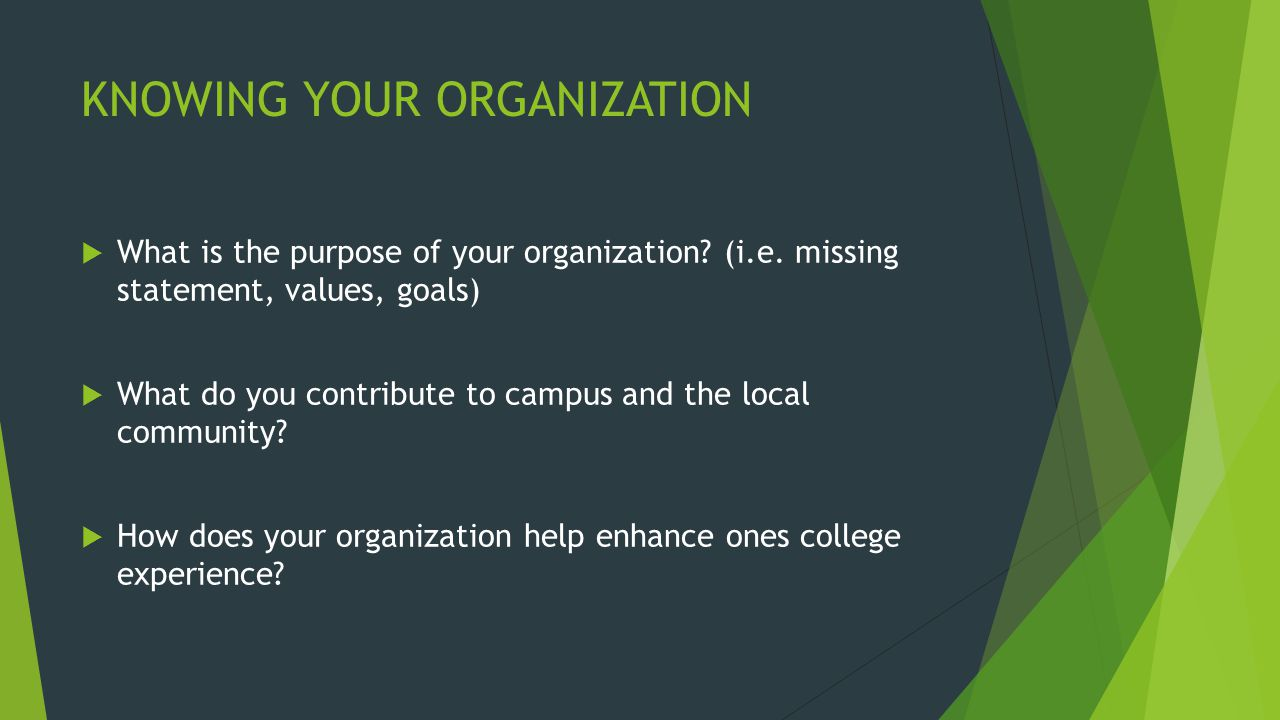 RECRUITMENT PLAN  Make assessment as to where your organization currently stands and where you intend for it to go.