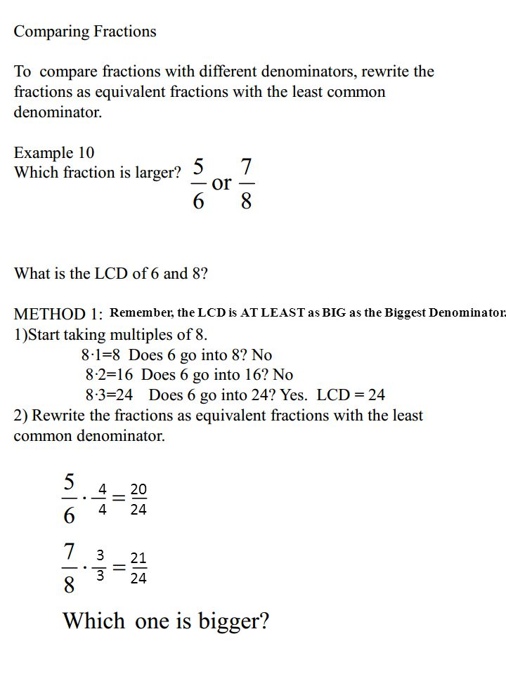 METHOD 2: Birthday Cake Method What is the LCD of 6 and 8 3 4 6 82 Do 3 and 4 have any factors in common.