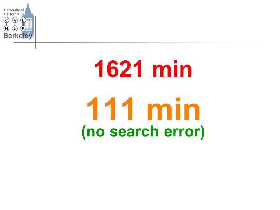 1621 min 111 min (no search error)