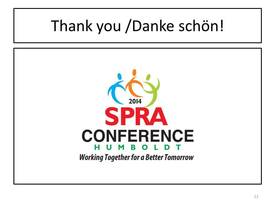 Thank you /Danke schön! 51