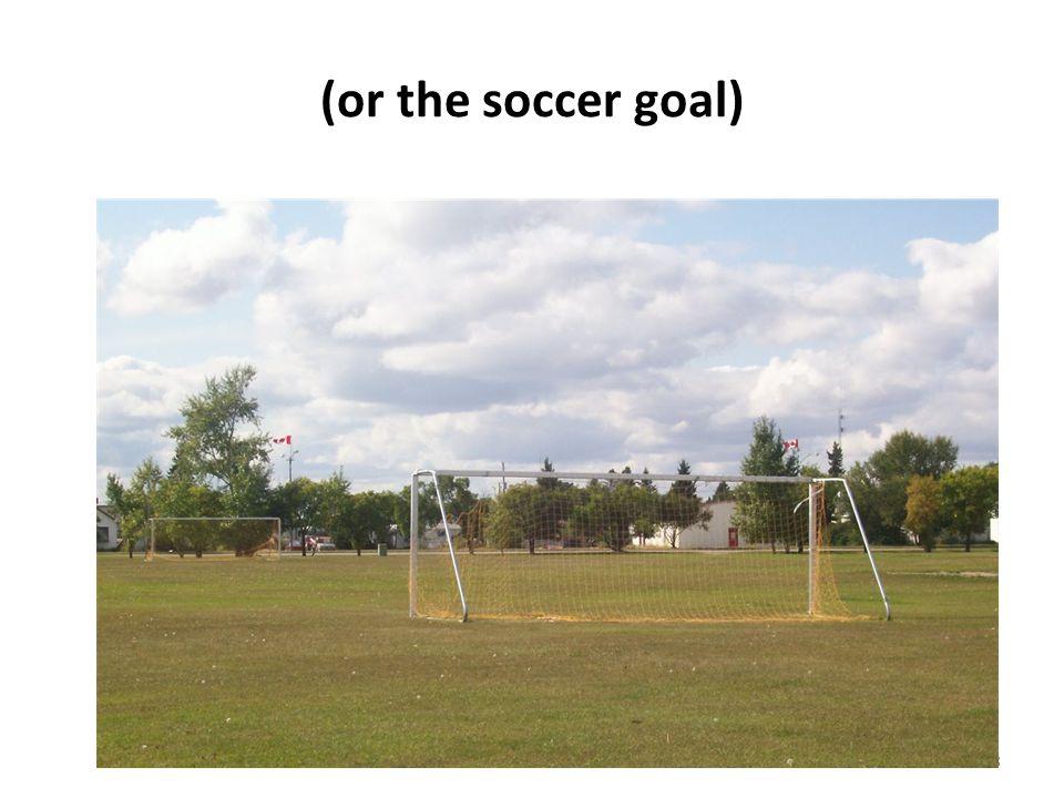 (or the soccer goal) 8