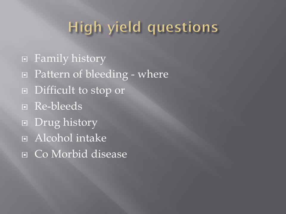  History and physical  Type of tests guided by clinical features  Screening tests  Further tests  Definitive tests