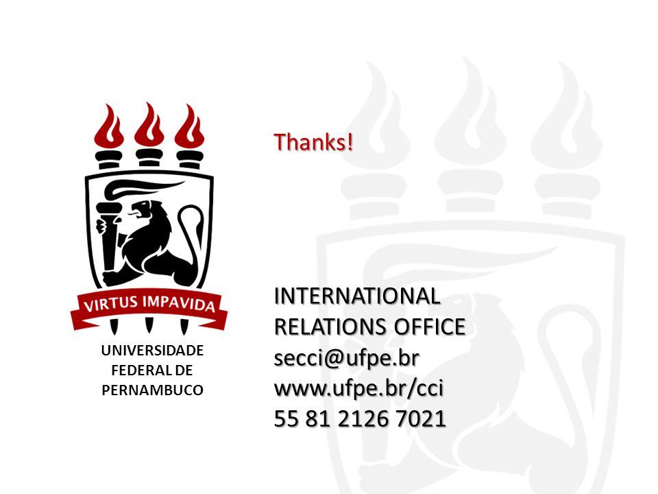 UNIVERSIDADE FEDERAL DE PERNAMBUCO Thanks.
