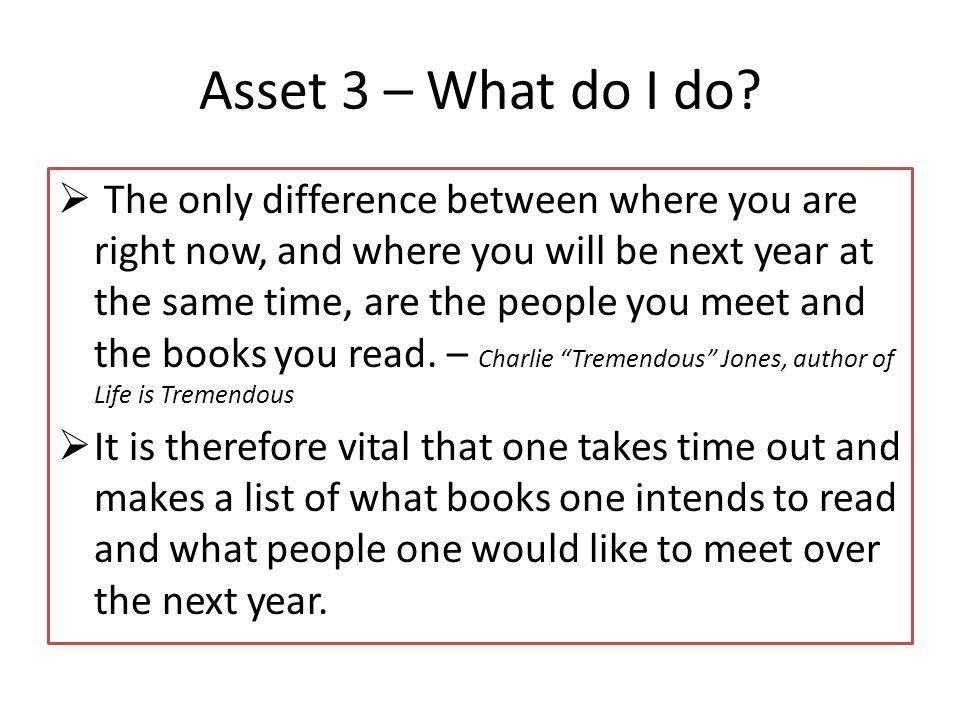 Asset 3 – What do I do.