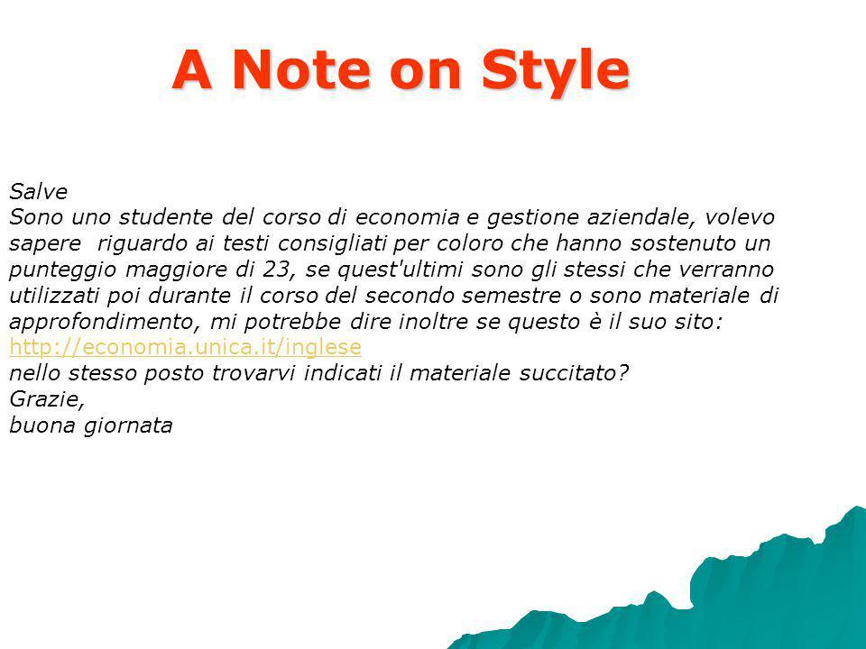 A Note on Style in effetti, per i crediti, la differenza tra 4 e 8 e tanta, ma mi informero e le faro sapere.