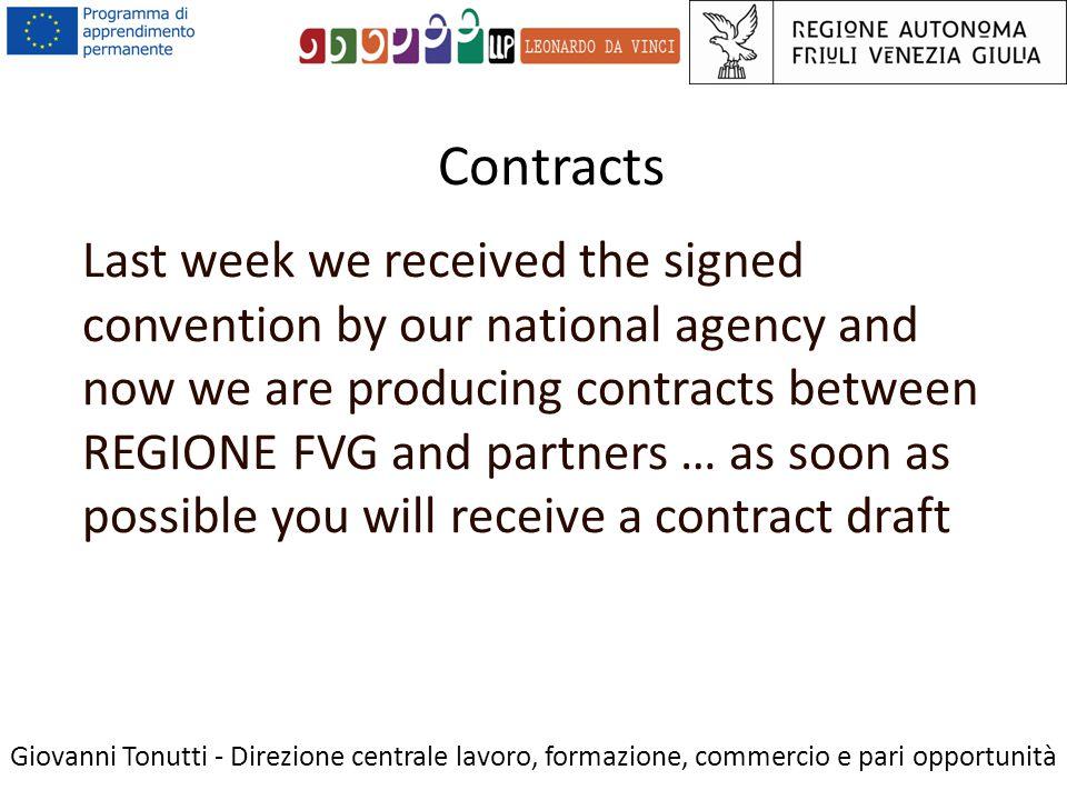 SUBSISTENCE COSTS Giovanni Tonutti - Direzione centrale lavoro, formazione, commercio e pari opportunità Subsistence costs for staff taking part in the project are eligible.