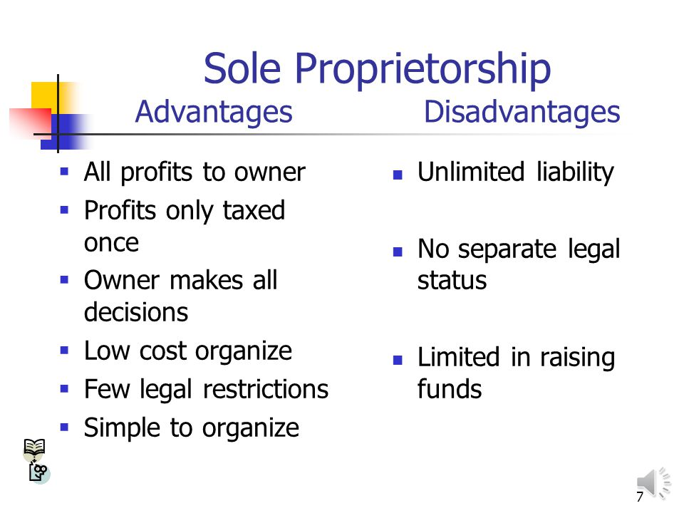6 Forms of Legal Structure in Missouri Sole proprietorship Partnership General Limited Limited liability company Corporation C-corporation S-corporation