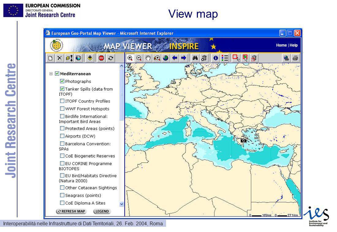 Interoperabilità nelle Infrastrutture di Dati Territoriali, 26. Feb. 2004, Roma View map