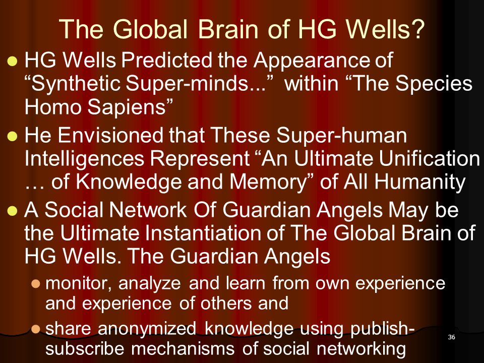 36 The Global Brain of HG Wells.