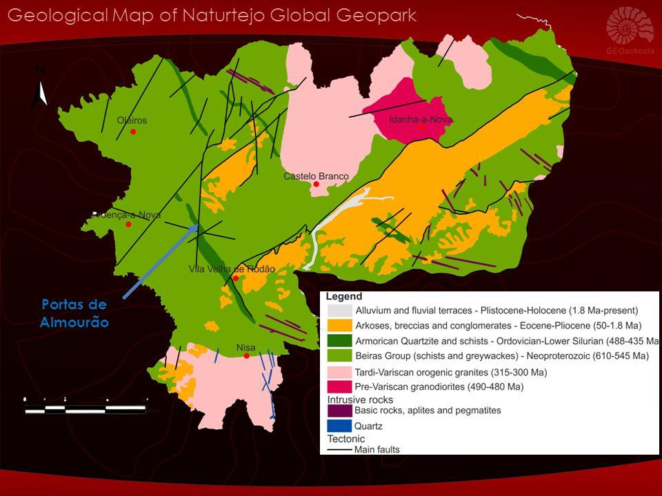 Geological Map of Naturtejo Global Geopark Portas de Almourão