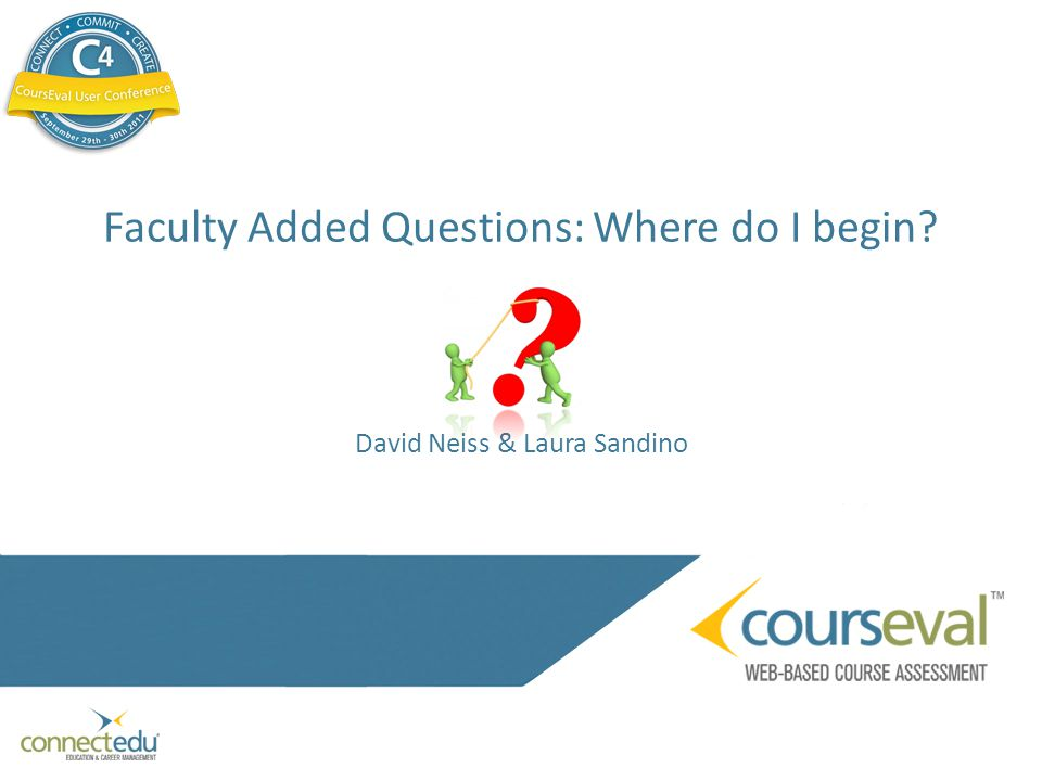 Faculty Added Questions: Where do I begin David Neiss & Laura Sandino