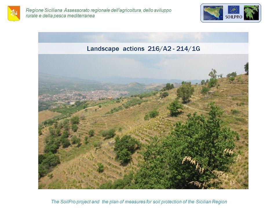 Landscape actions 216/A2 - 214/1G The SoilPro project and the plan of measures for soil protection of the Sicilian Region Regione Siciliana Assessorato regionale dell agricoltura, dello sviluppo rurale e della pesca mediterranea