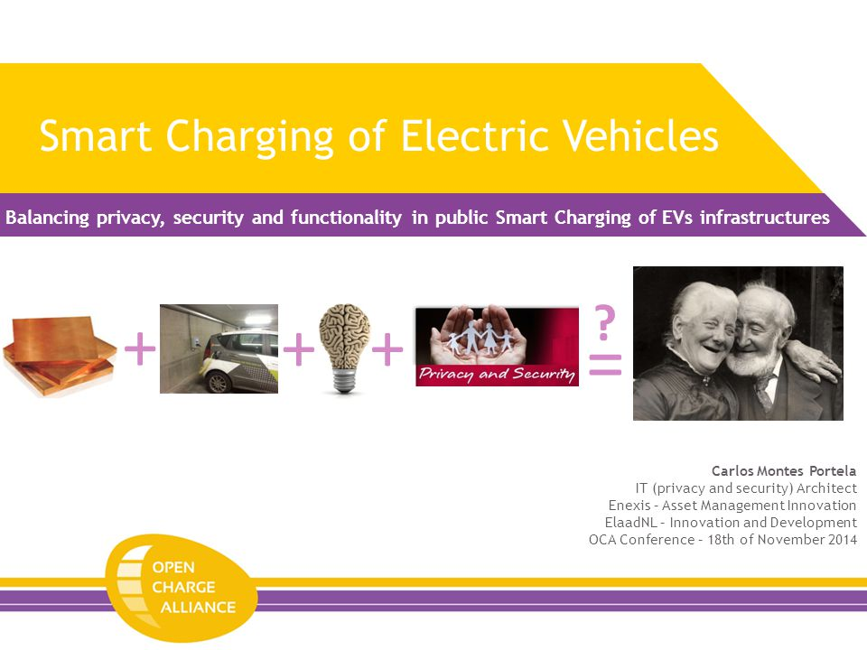 Smart Charging of Electric Vehicles Balancing privacy, security and functionality in public Smart Charging of EVs infrastructures =