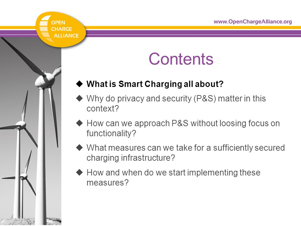 Contents  What is Smart Charging all about.