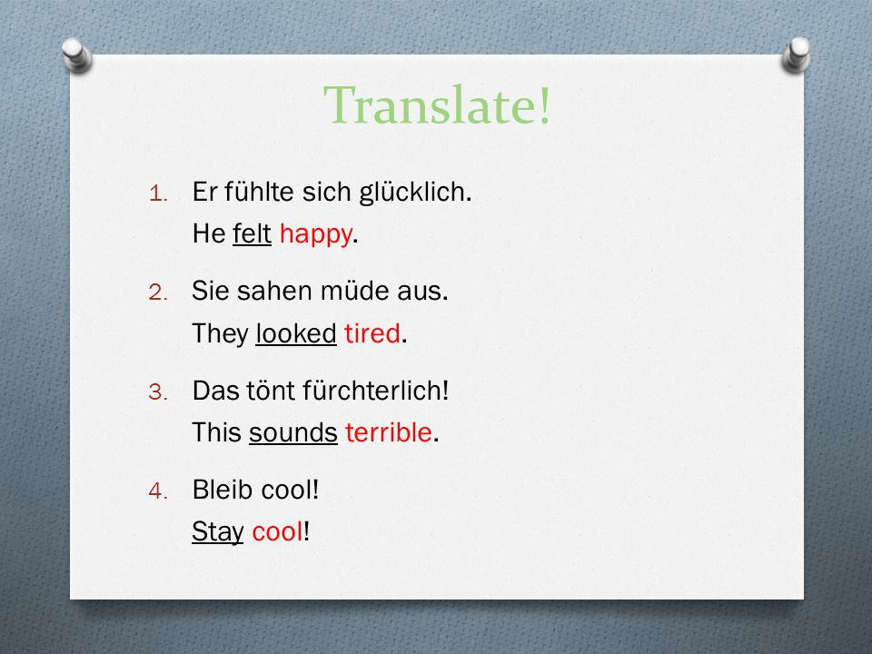 Translate.1. Sie grüsste mich freundlich. She greeted me in a friendly way / politely.